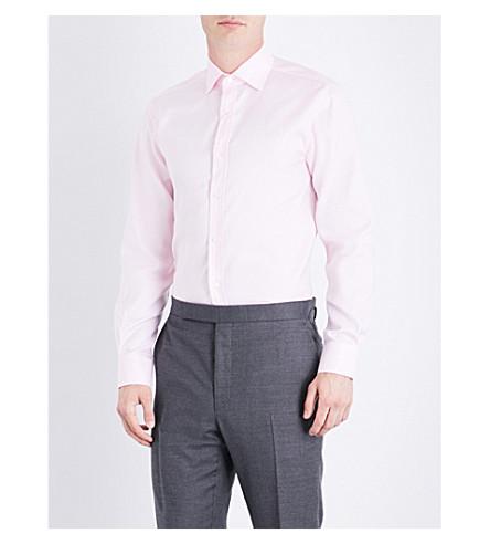 RALPH LAUREN PURPLE LABEL Aston regular-fit cotton shirt (Light+pink