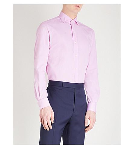 RALPH LAUREN PURPLE LABEL Bond regular-fit cotton shirt (Pink