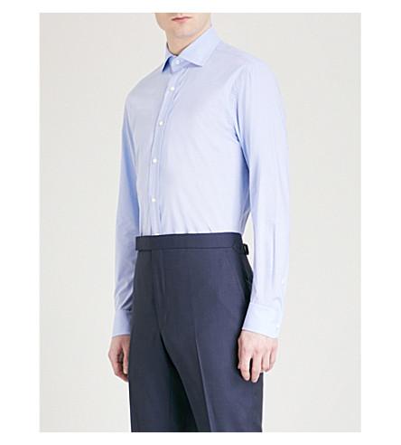 RALPH LAUREN PURPLE LABEL Regular-fit cotton shirt (Blue+white