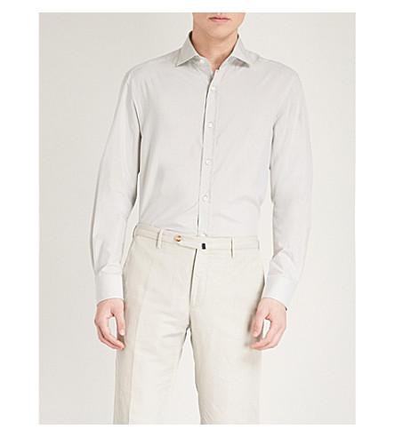 RALPH LAUREN PURPLE LABEL Bond cotton and silk-blend shirt (Grey