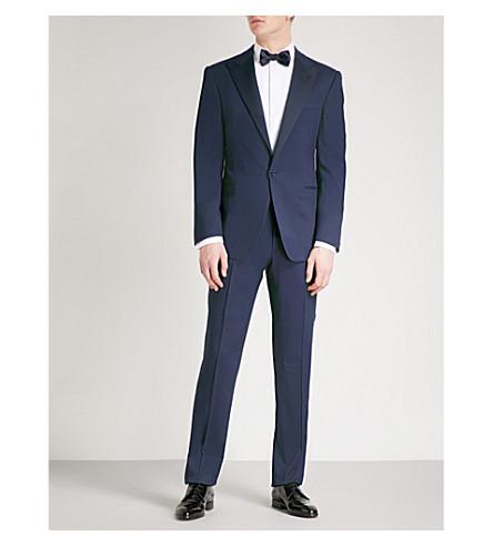 RALPH LAUREN PURPLE LABEL Peak-lapel regular-fit wool suit (Navy