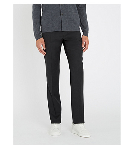 RALPH LAUREN PURPLE LABEL Anthony slim-fit tapered wool trousers (Charcoal
