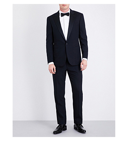 RALPH LAUREN PURPLE LABEL Regular-fit single-breasted wool tuxedo (Navy