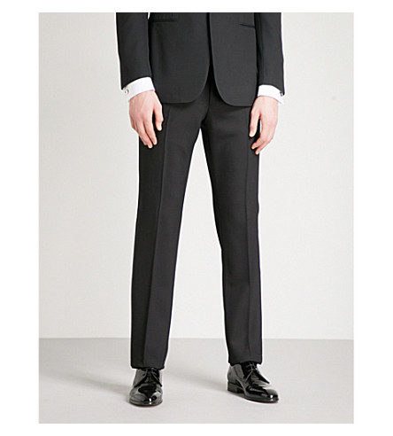 RALPH LAUREN PURPLE LABEL Anthony wool trousers (Black