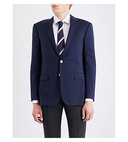 RALPH LAUREN PURPLE LABEL Antony single-breasted wool jacket (Classic+navy