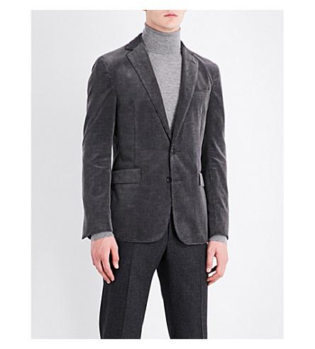 RALPH LAUREN PURPLE LABEL Slim-fit cotton and cashmere-blend corduroy jacket (Grey