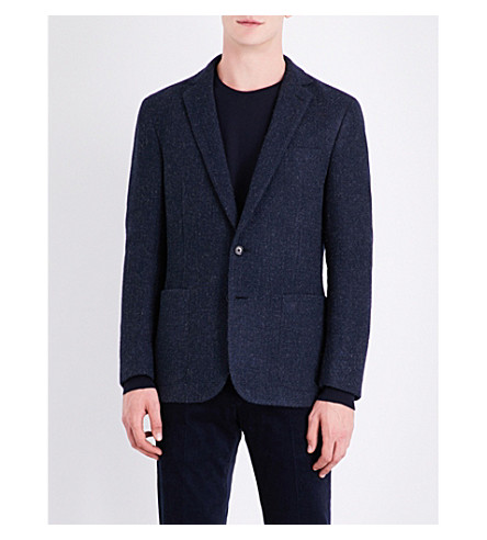 RALPH LAUREN PURPLE LABEL Slim-fit wool and alpaca-blend jacket (Navy