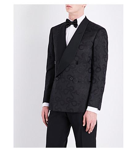 RALPH LAUREN PURPLE LABEL Slim-fit silk tuxedo jacket (Black