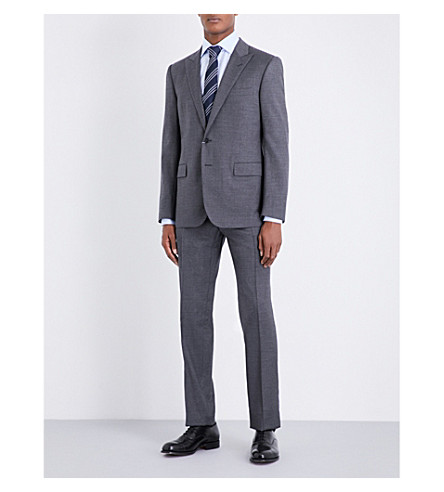 RALPH LAUREN PURPLE LABEL Anthony single-breasted wool jacket (Grey