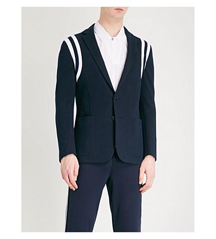 RALPH LAUREN PURPLE LABEL Sports cotton-blend suit jacket (Classic+chairman+navy