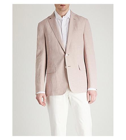 RALPH LAUREN PURPLE LABEL Hadley linen and silk-blend jacket (Pink