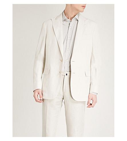 RALPH LAUREN PURPLE LABEL Hadley linen and silk-blend jacket (Light+taupe