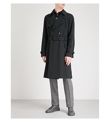 RALPH LAUREN PURPLE LABEL Classic cotton-drill trench coat (Black