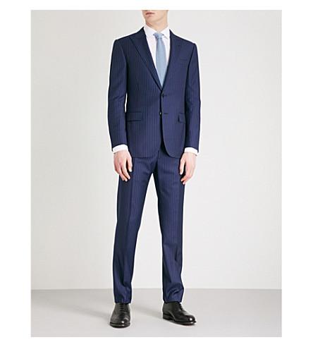 RALPH LAUREN PURPLE LABEL Regular-fit wool suit (Navy+and+white