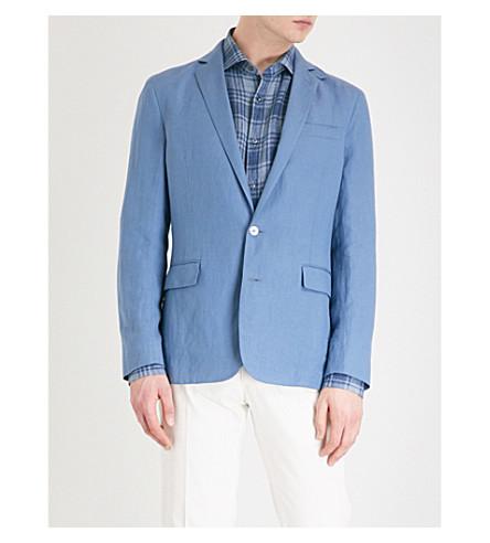 RALPH LAUREN PURPLE LABEL Hadley regular-fit linen jacket (Blue