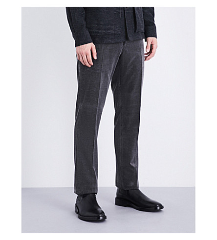RALPH LAUREN PURPLE LABEL Regular-fit corduroy trousers (Grey