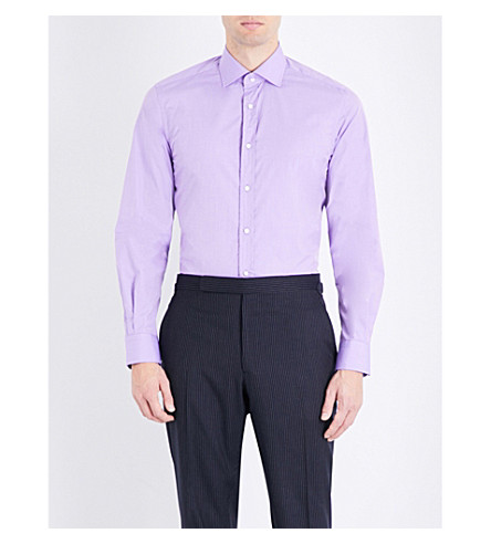 RALPH LAUREN PURPLE LABEL Aston cotton shirt (Lavender