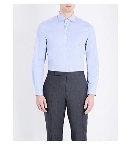 RALPH LAUREN PURPLE LABEL Bond cotton shirt (Light+blue