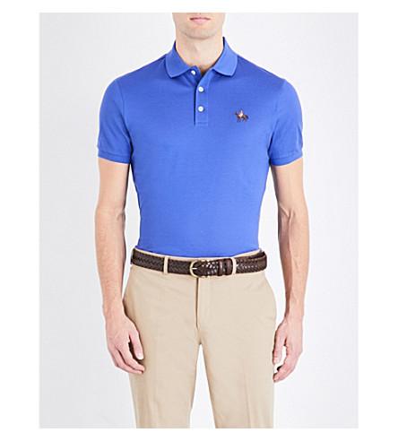 RALPH LAUREN PURPLE LABEL Logo cotton-piqué polo shirt (Classic+copen+b