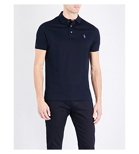 RALPH LAUREN PURPLE LABEL Custom-fit cotton-piqué polo shirt (Classic+chairma