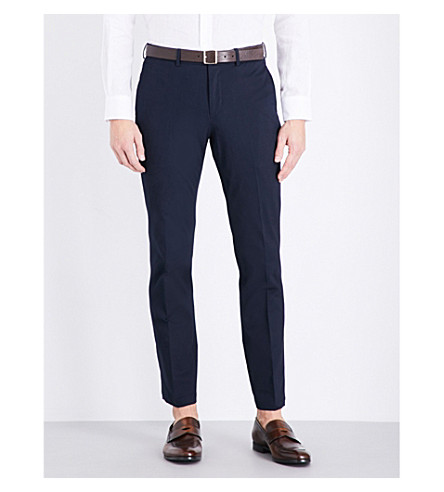 RALPH LAUREN PURPLE LABEL Slim-fit tapered stretch-cotton trousers (Classic+chairma