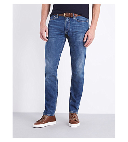 RALPH LAUREN PURPLE LABEL Slim-fit tapered jeans (Amberley+indigo