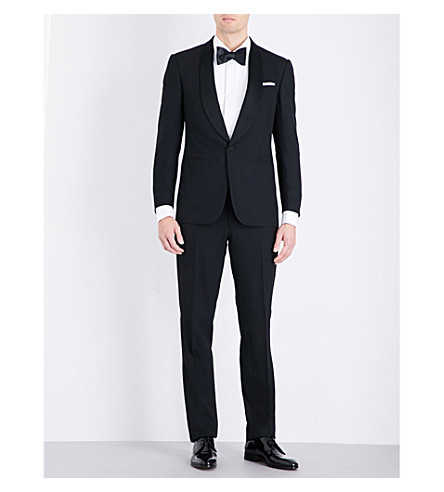 RALPH LAUREN PURPLE LABEL Anthony shawl-collar wool tuxedo (Black
