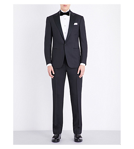 RALPH LAUREN PURPLE LABEL Anthony wool suit (Black