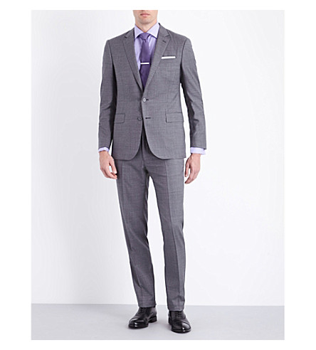 RALPH LAUREN PURPLE LABEL Anthony slim-fit wool suit (Grey+multi