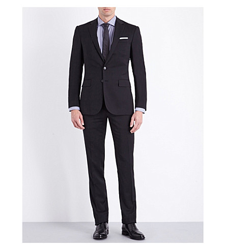 RALPH LAUREN PURPLE LABEL Slim-fit wool suit (Black