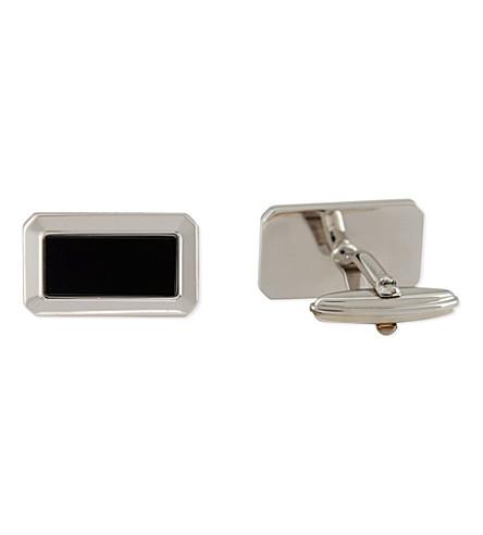 LANVIN Rectangle onyx cufflinks (Black