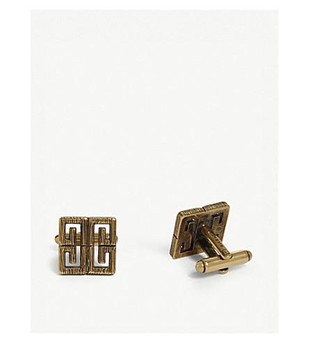 GIVENCHY Interlinking G logo cufflinks (Gold