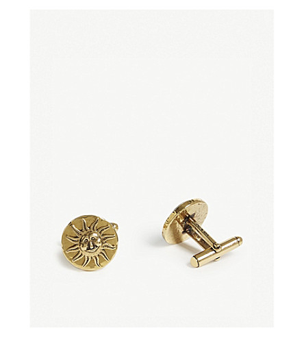 GIVENCHY Astral sun and moon cufflinks (Gold
