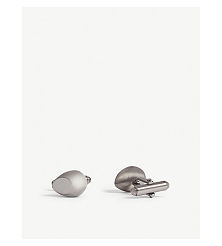 LANVIN Teardrop cufflinks (Ruthenium
