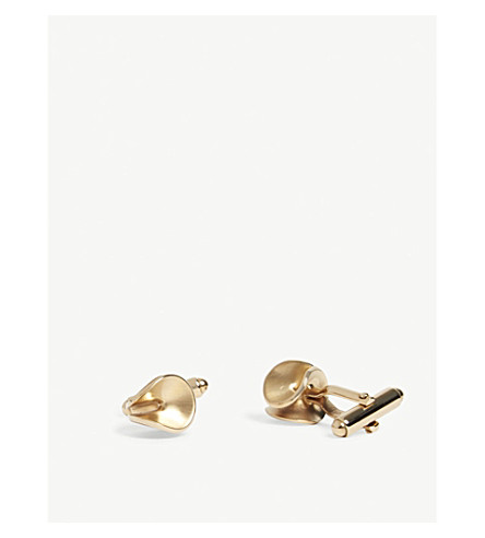 LANVIN Twisted rhodium-plated cufflinks (Gold