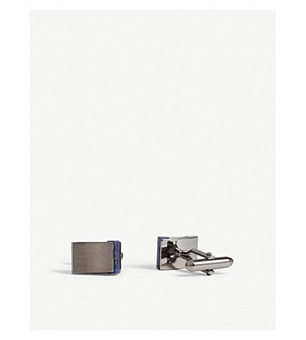 LANVIN Sodalite square cufflinks (Ruthenium