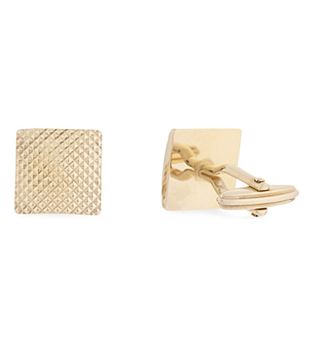 LANVIN Textured square cufflinks (Gold
