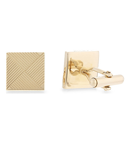 LANVIN Diamond sketch cufflinks (Gold