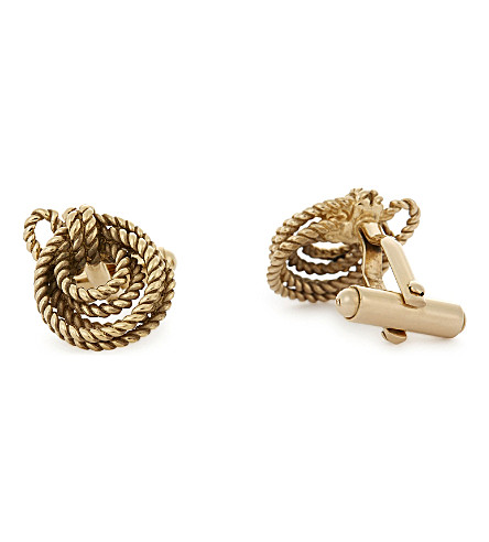 LANVIN Rope cufflinks (Gold
