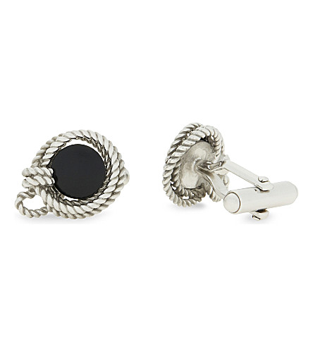 LANVIN Stone rope cufflinks (Black