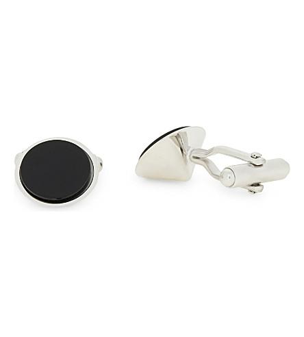 LANVIN Round cufflinks (Black