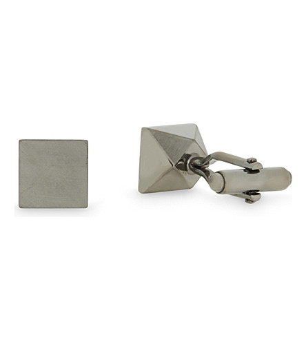 LANVIN Square cufflinks (Ruthenium