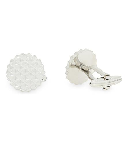 LANVIN 圆切的质感袖扣 (银色