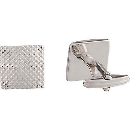LANVIN Textured square cufflinks (Silver