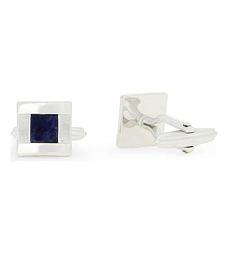 LANVIN Square stone cufflinks (Blue