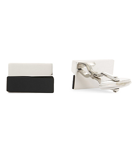 LANVIN Geometric cufflinks (Rhodium