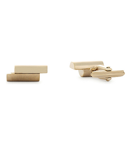 LANVIN Abstract cufflinks (Gold