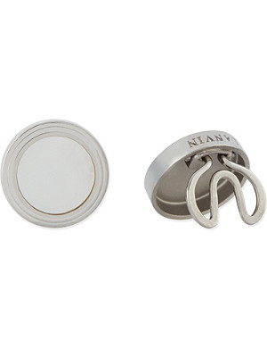 LANVIN Silver-toned button covers