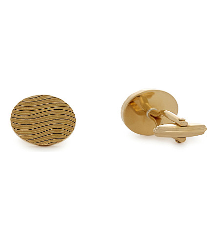 LANVIN Wave cufflinks (Gold