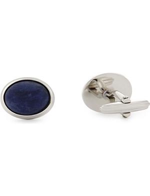 LANVIN Sodalite polished stone cufflinks